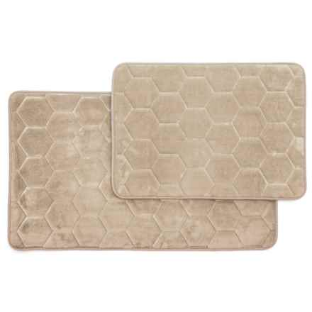 Madison Home Honey Memory Foam Bath Rugs Set Of 2 In Taupe Closeouts
