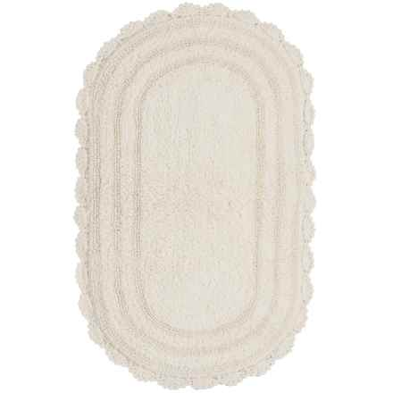"Madison Home Notting Hill Crochet Oval Bath Rug - 21x34"" in Ivory - Closeouts"