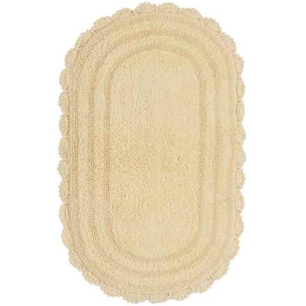 "Madison Home Notting Hill Crochet Oval Bath Rug - 24x40"" in Butter - Closeouts"