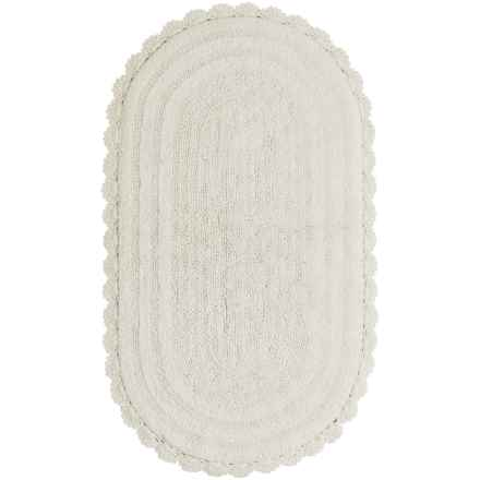 """Madison Home Notting Hill Crochet Oval Bath Rug - 27x45"""" in Ivory - Closeouts"""