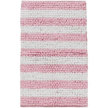 """Madison Home Paper Chindi Pink and White Loop Bath Rug - 27x45"""" in Pink/White"""