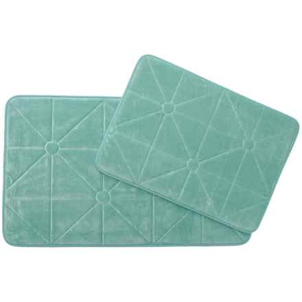 Madison Home Prism Memory Foam Bath Rugs - Set of 2 in Mineral Blue - Closeouts