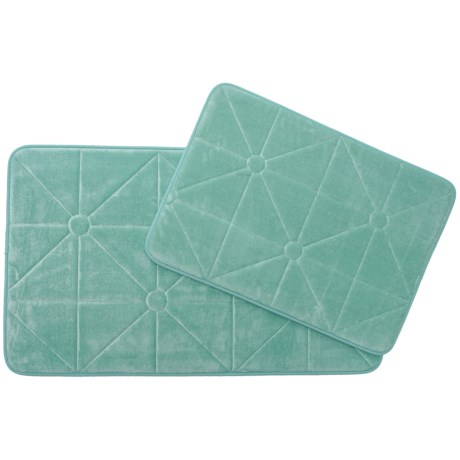 Madison Home Prism Memory Foam Bath Rugs Set Of 2 In Mineral Blue