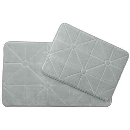 Madison Home Prism Memory Foam Bath Rugs - Set of 2 in Silver - Closeouts