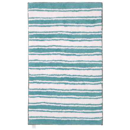 """Madison Home Reversible Striped Bath Rug - 27x45"""" in Aquifer - Closeouts"""