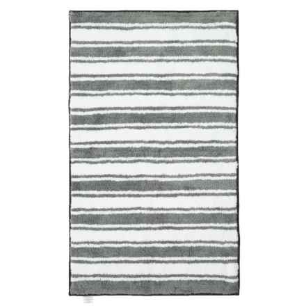 "Madison Home Reversible Striped Bath Rug - 27x45"" in Silver - Closeouts"