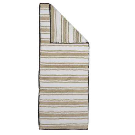 """Madison Home Reversible Striped Double Sink Bath Rug - 22x54"""" in Sand - Closeouts"""
