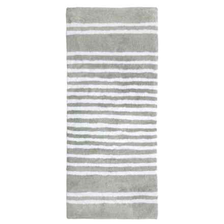 """Madison Home Runner Bath Rug - 22x54"""" in Silver/White - Closeouts"""