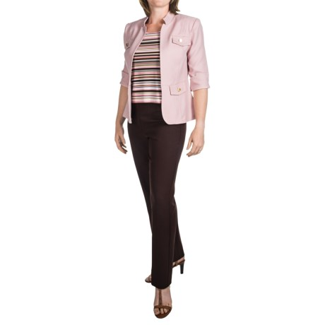Madison Leigh 3-Piece Pants Set (For Women) in Brown/Pink