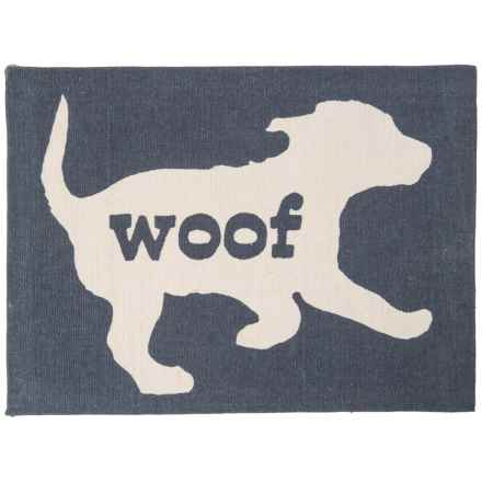 """Madison Woof Bowl Mat - 13x18"""" in Navy - Closeouts"""