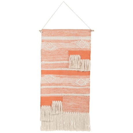"""Madison Woven Cotton Wall Hanging - 18x31"""" in Spice"""