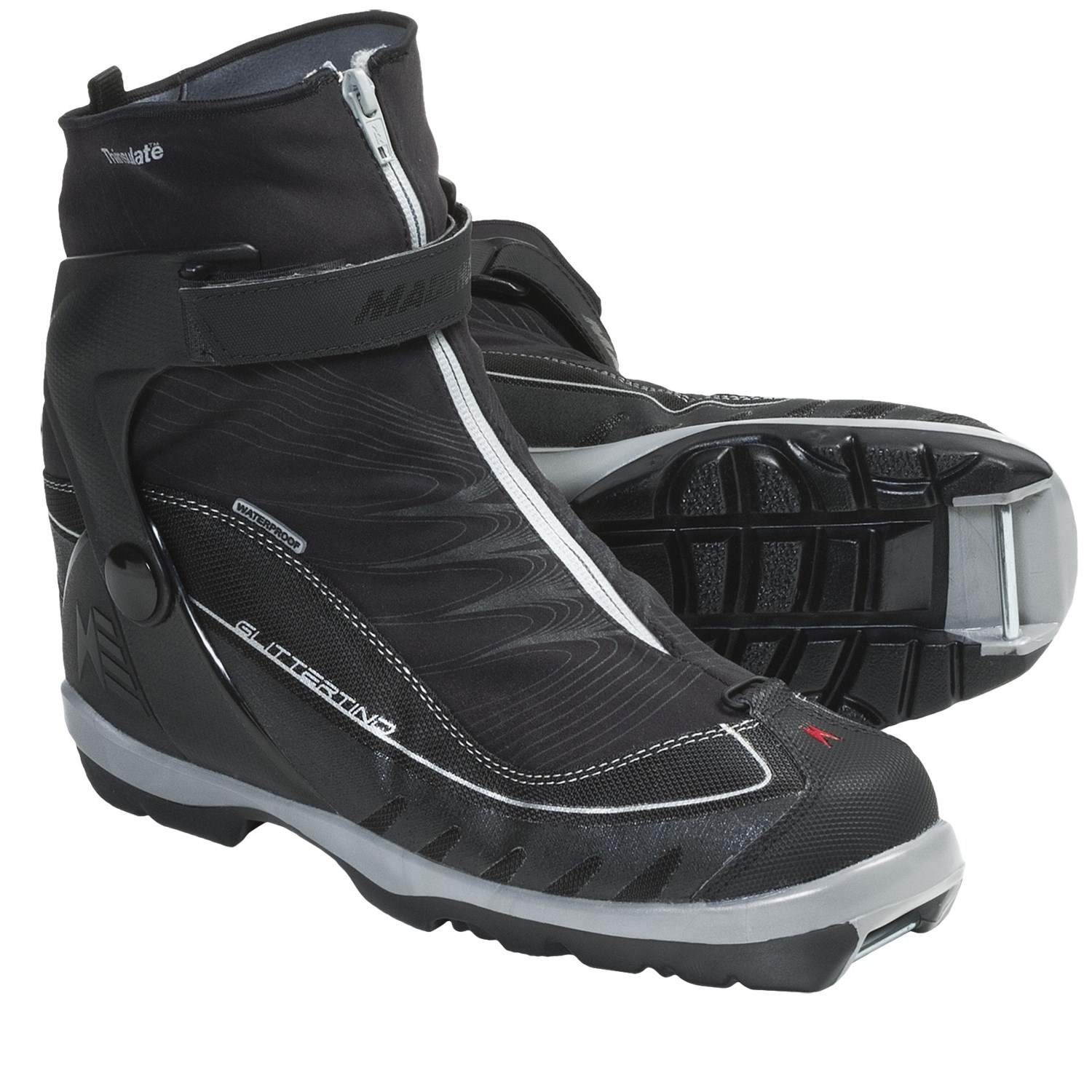 Touring Cross-Country Ski Boots - NNN BC (For Men and Women) in Black