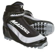 Madshus Hyper U Touring Cross-Country Ski Boots - NNN (For Men and Women) in Black/White - Closeouts