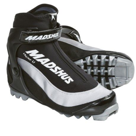 Madshus Hyper U Touring Cross-Country Ski Boots - NNN (For Men and Women) in Black/White