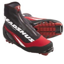 Madshus Nano Carbon Classic Cross-Country Ski Boots - NNN (For Men and Women) in Black/Red - Closeouts