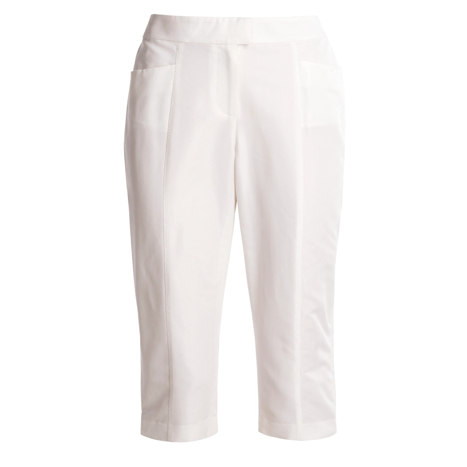 Womens White Cotton Pants