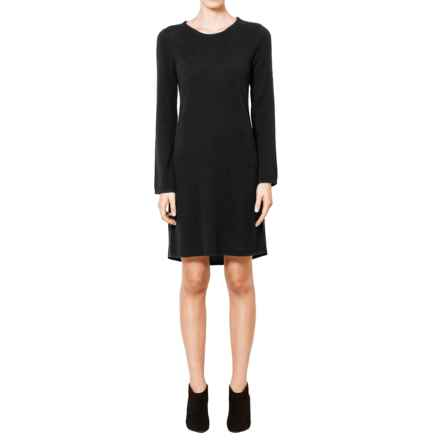 Magaschoni Cashmere Sweater Dress - Long Sleeve (For Women) in Black - Closeouts