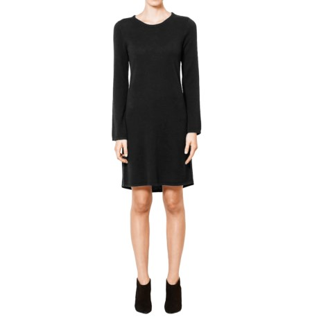 Magaschoni Cashmere Sweater Dress - Long Sleeve (For Women) in Black