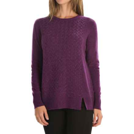 Magaschoni Cashmere Sweater (For Women) in Mulberry Mouline - Closeouts