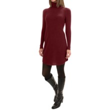 Magaschoni Cashmere Turtleneck Dress - Shirttail Hem, Long Sleeve (For Women) in Mahogany - Closeouts