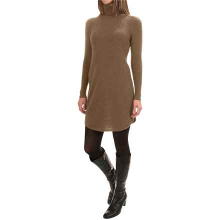 Magaschoni Cashmere Turtleneck Dress - Shirttail Hem, Long Sleeve (For Women) in Manor House - Closeouts