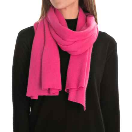 Magaschoni Classic Jersey-Knit Cashmere Scarf (For Women) in Camellia - Closeouts