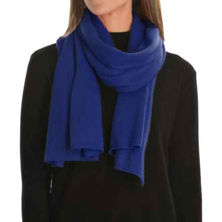 Magaschoni Classic Jersey-Knit Cashmere Scarf (For Women) in Moma - Closeouts