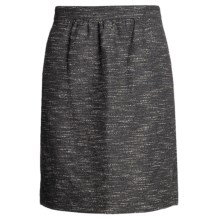 Magaschoni Collection Skirt - Marbled Boucle (For Women) in Navy/Plexi Glass - Closeouts