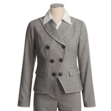 Magaschoni Collection Wool Crepe Jacket - Dove Grey Melange (For Women) in Grey Dove Melange - Closeouts