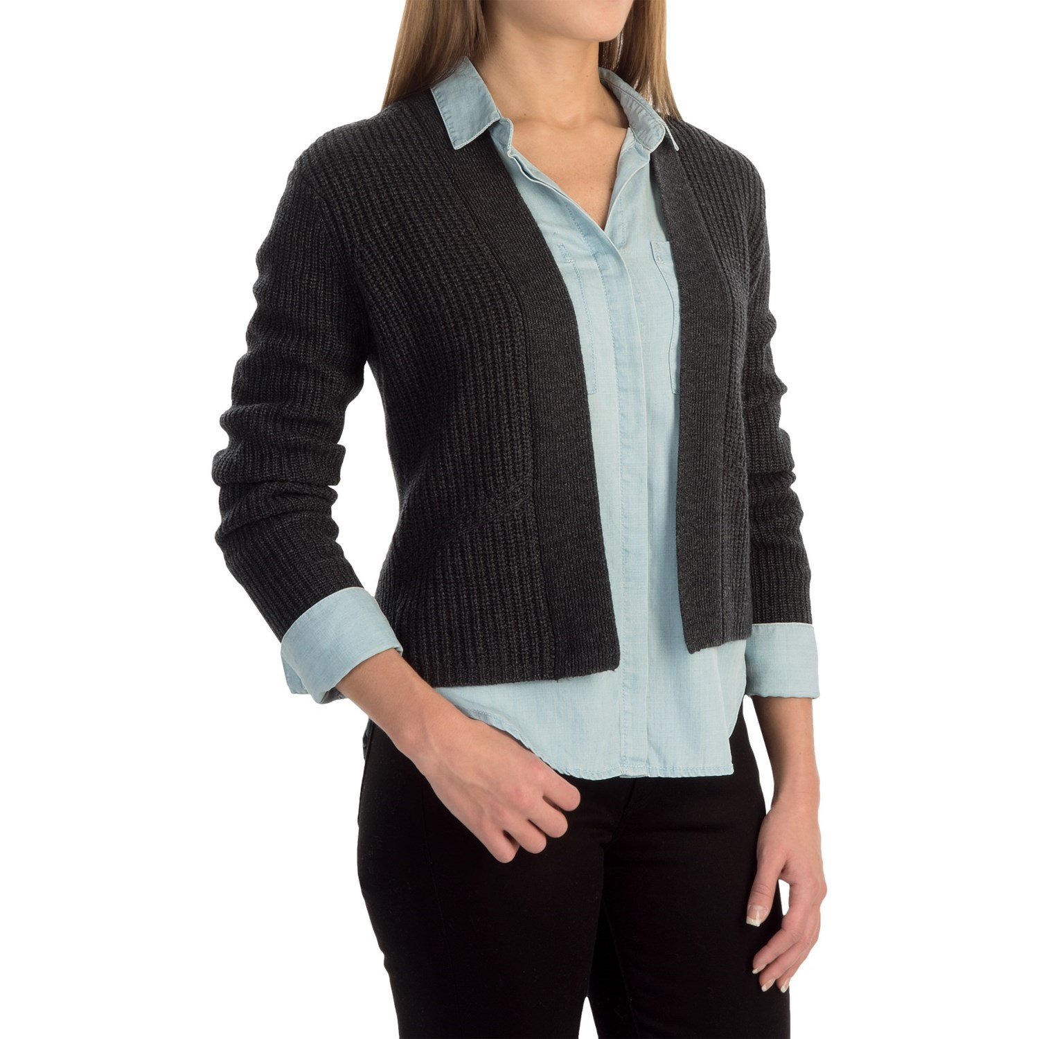 Magaschoni Cropped Cardigan Sweater (For Women) - Save 58%