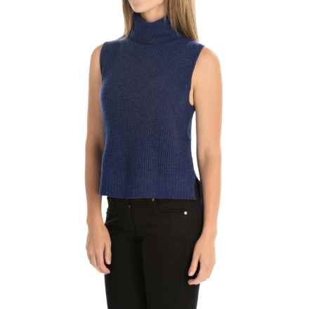 Magaschoni Hi-Lo Turtleneck Sweater Vest - Wool and Cashmere (For Women) in Indigo - Closeouts
