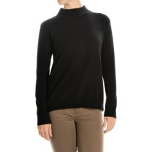 Magaschoni Rear-Zip Sweater - Cashmere and Silk, Long Sleeve (For Women) in Black - Closeouts