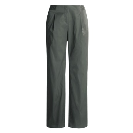 Magaschoni Shimmer Pants - Stretch Cotton (For Women) in Reed