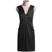 Magaschoni Stretch Silk Cocoon Dress - Sleeveless (For Women) in Black - Closeouts