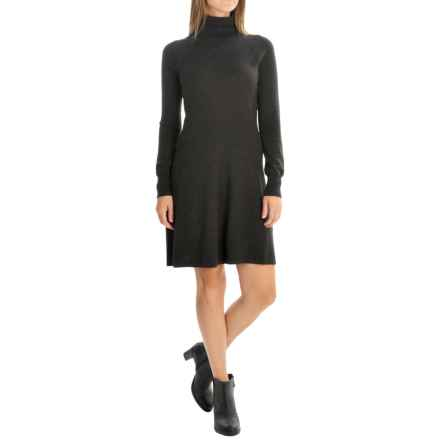 Magaschoni Turtleneck Sweater Dress - Long Sleeve (For Women) in Charcoal - Closeouts