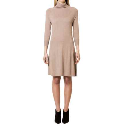 Magaschoni Turtleneck Sweater Dress - Long Sleeve (For Women) in Manor House - Closeouts