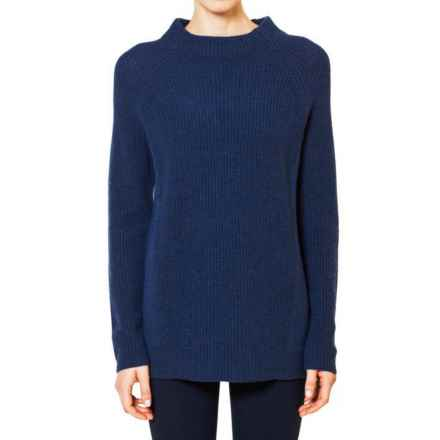 Magaschoni Wool and Cashmere Sweater - Loose Fit, Long Sleeve (For Women) in Indigo - Closeouts
