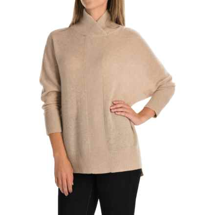 Magaschoni Wrapped-Turtleneck Cashmere Sweater (For Women) in Chestnut/Stone - Closeouts
