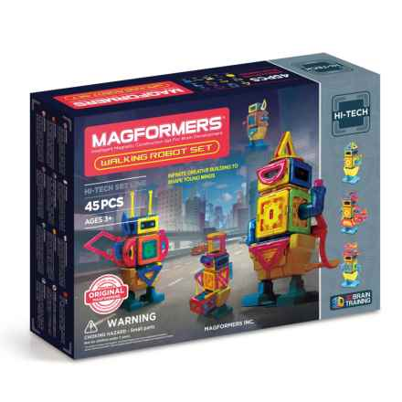 Magformers Walking Robot Magnetic Erector Set - 45-Piece in Multi - Closeouts