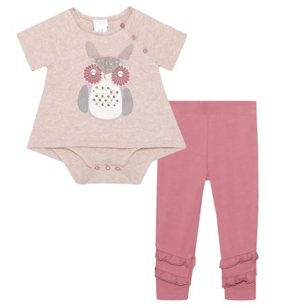 b12aaf0fc2bc Maggie   Zoe Owl Graphic Tunic and Leggings Set - Short Sleeve (For Infant  Girls