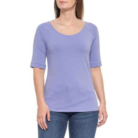 95a56c51ebc4a7 Maggie's Organics Raglan Blouse - Short Sleeve, Organic Cotton (For Women)  in Iris