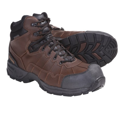 Magnum Excursion Work Boots - Waterproof, Composite Toe (For Men) in Coffee