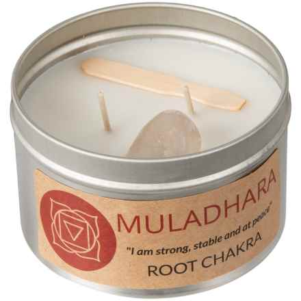 Magpie Primitives Root Chakra Candle - 2-Wick, 16 oz. in Silver - Closeouts