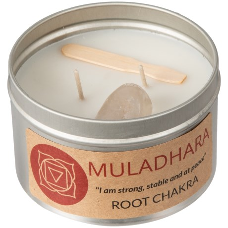 Magpie Primitives Root Chakra Candle - 2-Wick, 16 oz. in Silver