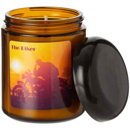 Magpie Primitives The Biker Soy-Blend Candle - 8 oz. in Amber - Closeouts