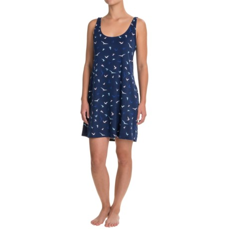 Maidenform Short Printed Nightgown - Sleeveless (For Women) in Birds Paradise