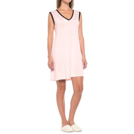 Maidenform V-Neck Nightgown - Sleeveless (For Women) in Sunset Pink