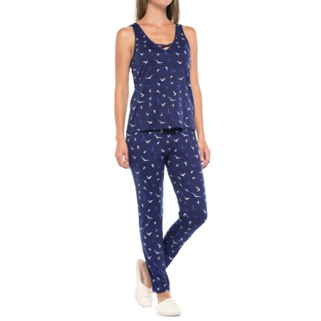 Maidenform V-Neck Pajamas - Sleeveless (For Women) in Birds Paradise