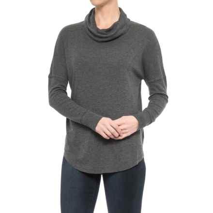 Maison Cinqcent 500 Denim  Cowl Neck Shirt - Cotton-Modal, Long Sleeve (For Women) in Charcoal Heather - Closeouts