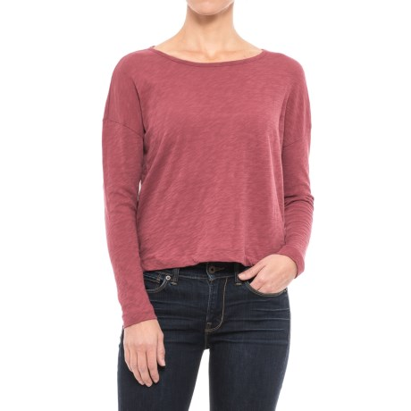 Maison Cinqcent Boxy Drop Shoulder Shirt - Long Sleeve (For Women) in Romance